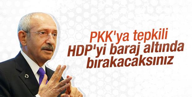 Kılıçdaroğlu'na göre PKK'nın hedefinde HDP var