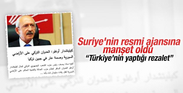Kılıçdaroğlu'nun eleştirileri Suriye'yi sevindirdi