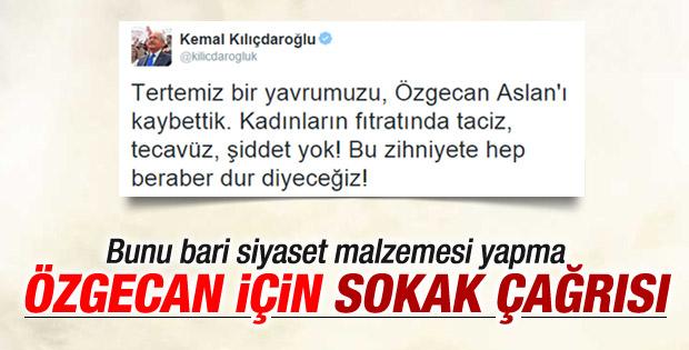 Kılıçdaroğlu Özgecan'ı siyaset malzemesi yaptı