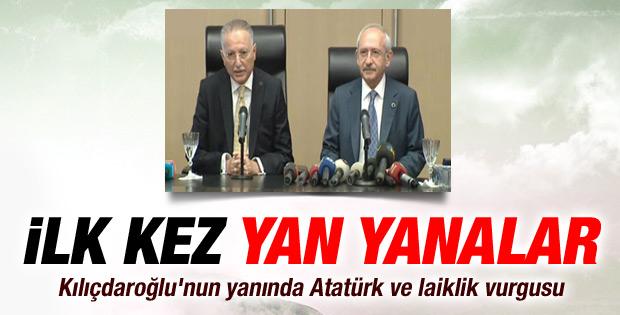 Kılıçdaroğlu ve İhsanoğlu ilk kez yan yana geldi İZLE
