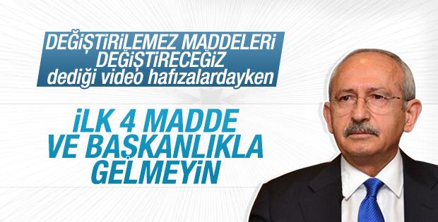 Kemal Kılıçdaroğlu'ndan Anayasa çarkı