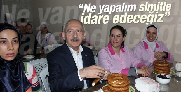 Kemal Kılıçdaroğlu Denizli'de işçilerle kahvaltı yaptı