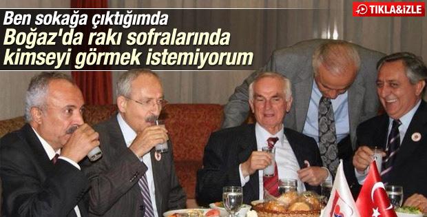 Kılıçdaroğlu'ndan partililere rakı masası göndermesi