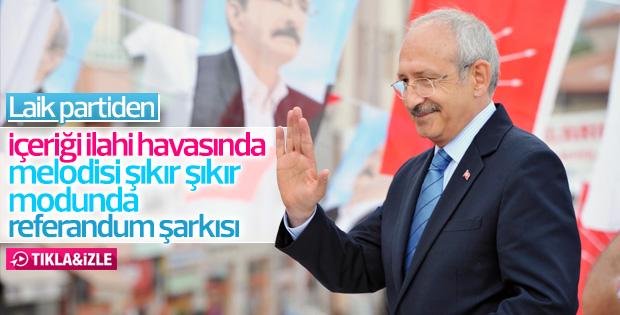 CHP'nin referandum şarkısı Amasya'da çalındı