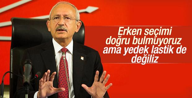Kılıçdaroğlu: Kimsenin yedek lastiği olmayız