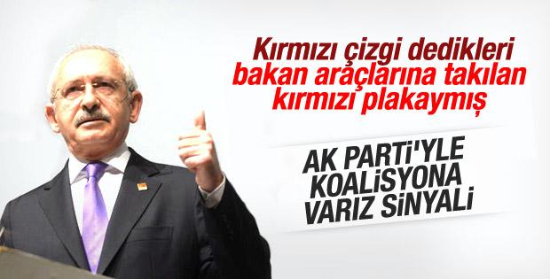 Kemal Kılıçdaroğlu AK Parti ile koalisyon sinyali verdi