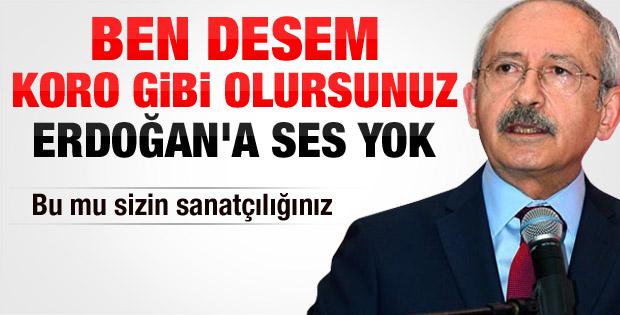 Kılıçdaroğlu: Başbakan'ın önünde diz çökene sanatçı denmez - izle