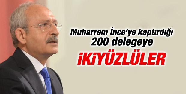 Kılıçdaroğlu CHP delegesine ikiyüzlü dedi