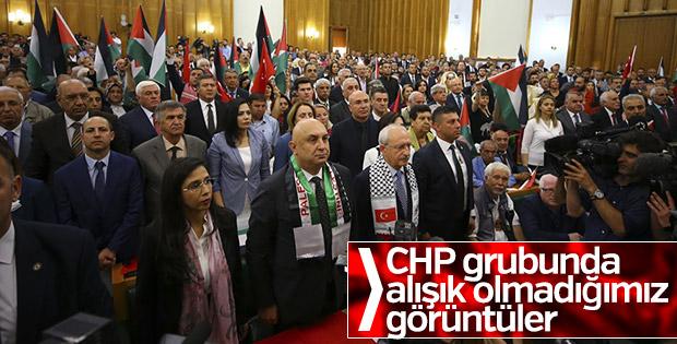 CHP Grup Toplantısı'nda Filistinliler için saygı duruşu