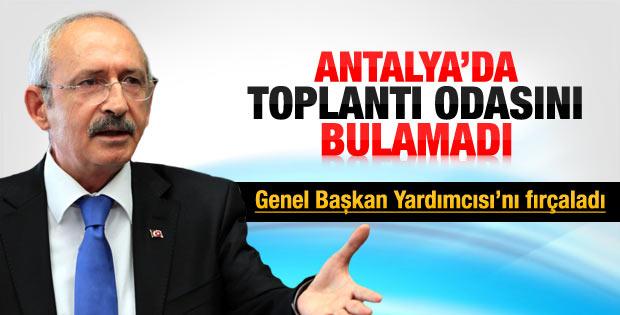 Kılıçdaroğlu Antalya'da 10 dakika salon aradı