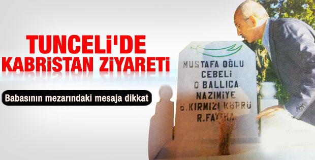 Kılıçdaroğlu aile kabristanlığını ziyaret etti