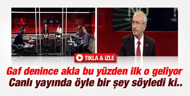 Kılıçdaroğlu'ndan canlı yayında tecavüz gafı İZLE