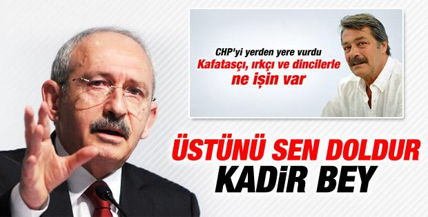 Kılıçdaroğlu'ndan Kadir İnanır'a cevap