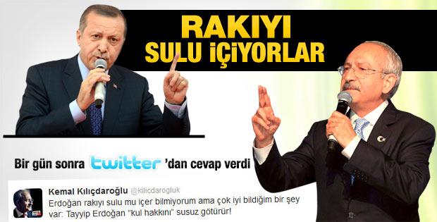 Kılıçdaroğlu'ndan Erdoğan'a rakı yanıtı
