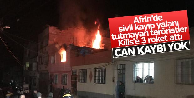 Teröristlerden Kilis'e roketli uçaksavarlı saldırı