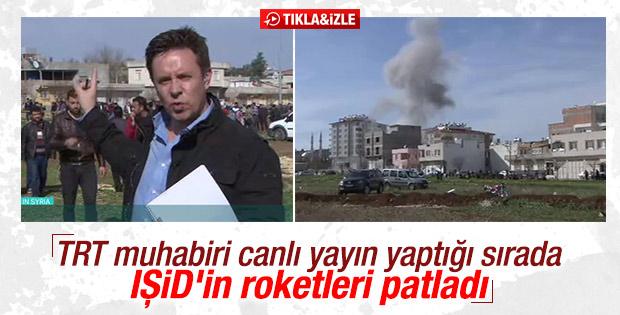 TRT canlı yayınında Kilis'e roket düştü