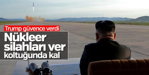 Trump'tan Kim'e nükleer silahlar karşılığında güvence