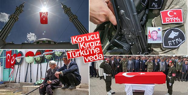 Şehit Kırgız Türkü şehit son yolculuğuna uğurlandı