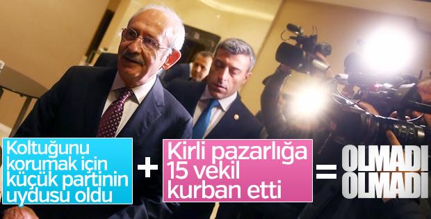 Kılıçdaroğlu'nun 15 vekil hamlesi tutmadı