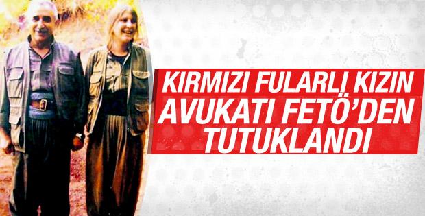 Kırmızı fularlı kızın avukatı FETÖ'den tutuklandı