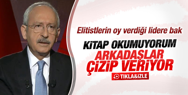 Kemal Kılıçdaroğlu'na kitap okuyor musunuz sorusu
