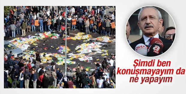 Kılıçdaroğlu Ankara'daki patlamaya ilişkin konuştu