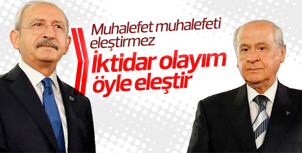 Kılıçdaroğlu'ndan Bahçeli'ye eleştiri tepkisi