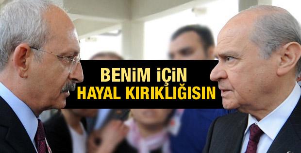 Kılıçdaroğlu: MHP bende hayal kırıklığı oldu