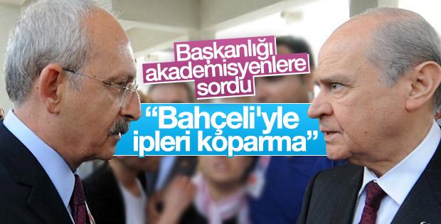 Akademisyenlerden Kılıçdaroğlu'na MHP uyarısı