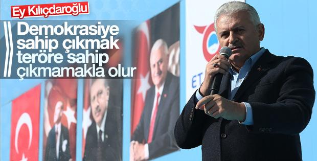 Binali Yıldırım, Kılıçdaroğlu'na Erzincan'dan seslendi