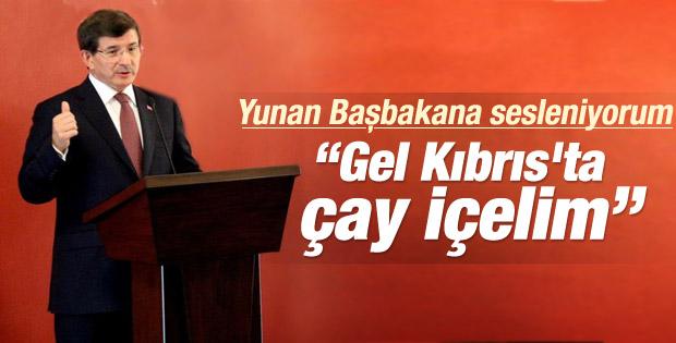 Davutoğlu'ndan KKTC'de barış mesajları
