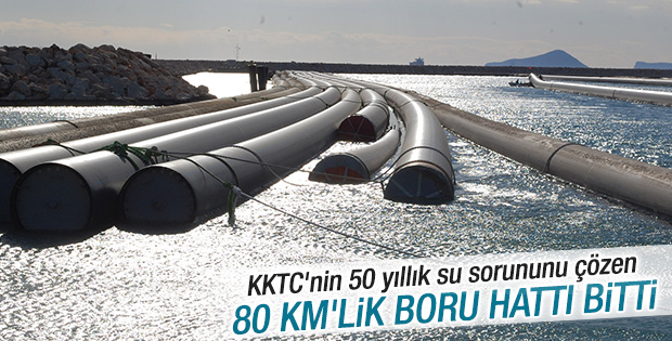 Türkiye'den KKTC'ye su götürecek projede sona gelindi
