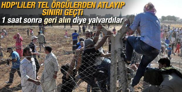 Yüzlerce kişi telleri yıkıp Kobani'ye geçti