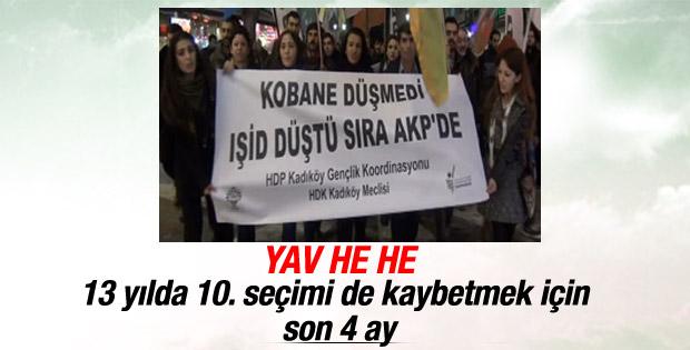Kadıköy'deki Berkin Elvan yürüyüşünde Kobani pankartı