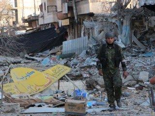 Kobani'deki savaşın yıkımları görüntülendi