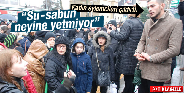 Kocaeli'nde kadınları çileden çıkaran protestocu