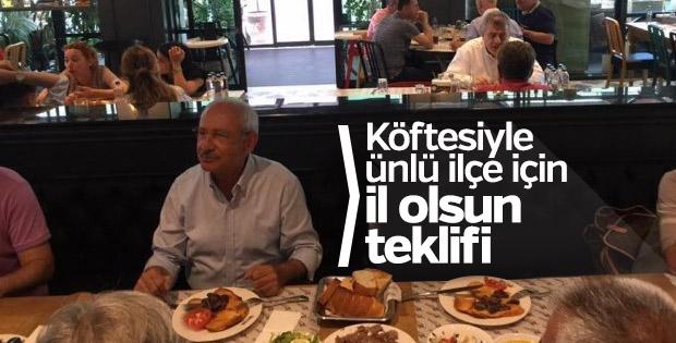 Kemal Kılıçdaroğlu'ndan İnegöl il olsun teklifi