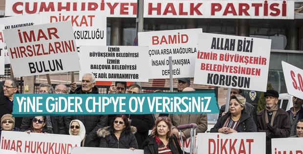 İzmirliler CHP Genel Merkezi önünde eylem yaptı