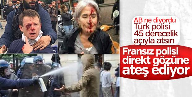 Fransa'da göstericilerin üzerine plastik mermi ateşlendi