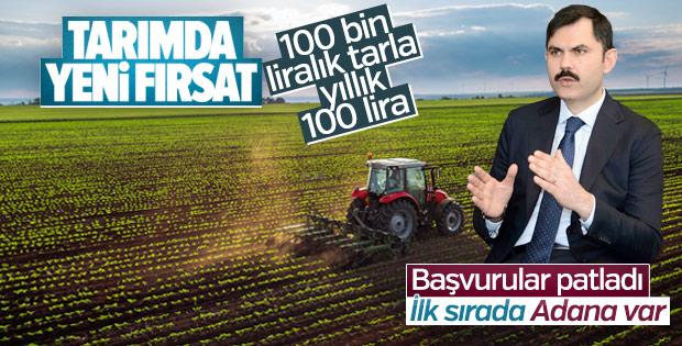 Murat Kurum: Çiftçiler Hazine arazilerine talip oldu