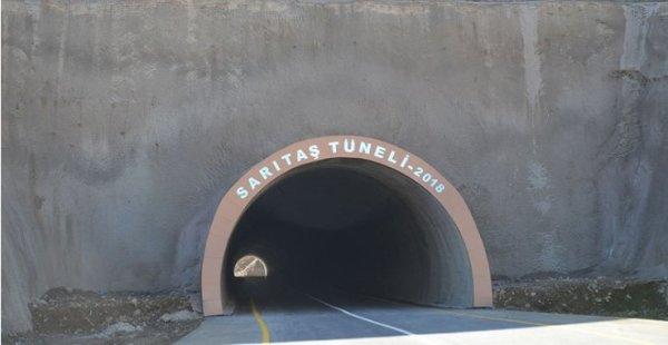 Yapımı 3 ay süren Sarıtaş Tüneli tamamlandı