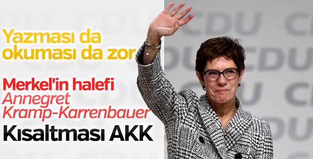 Merkel'in halefi: Annegret Kramp-Karrenbauer