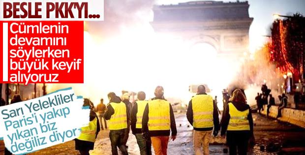 Fransız protestocu: Paris'i Kürt eylemciler yaktı