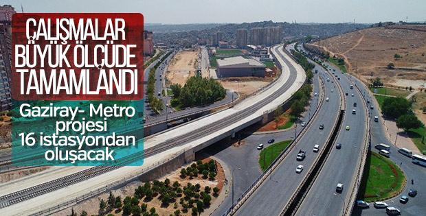Gaziray-Metro Projesi çalışmalarının yüzde 77'si tamamlandı