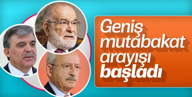 Abdullah Gül'den üst üste siyasi temaslar