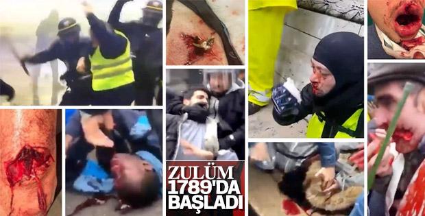 Fransa'da öğrenciler polislerden dayak yedi
