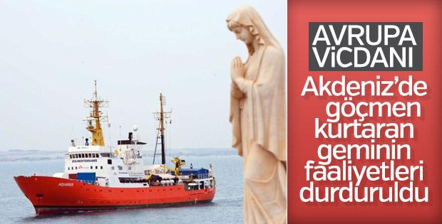 Akdeniz'de göçmenleri kurtaran gemiye Avrupa'dan engel