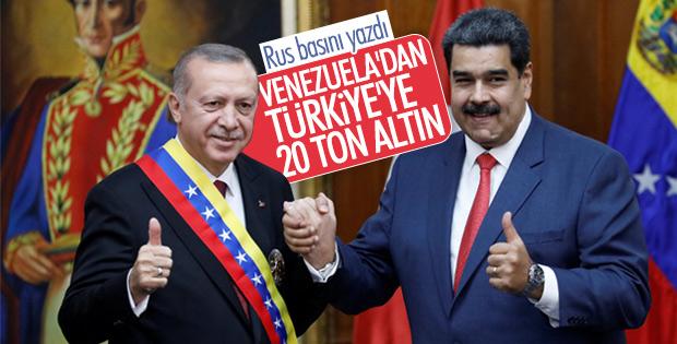 Venezuela'dan Türkiye'ye altın ihracı