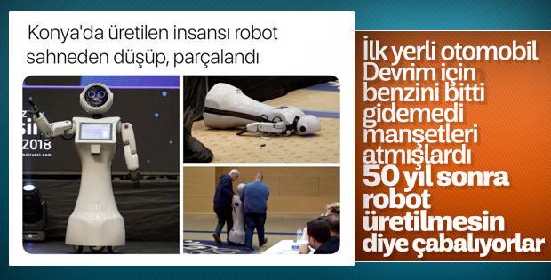 CHP kafalı medya yerli robota saldırıyor