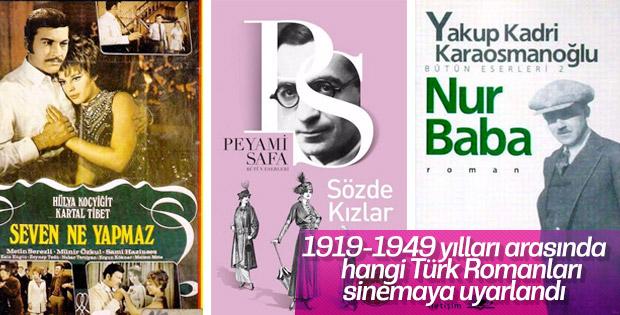 1919 - 1949 döneminde filme uyarlanan Türk Romanları